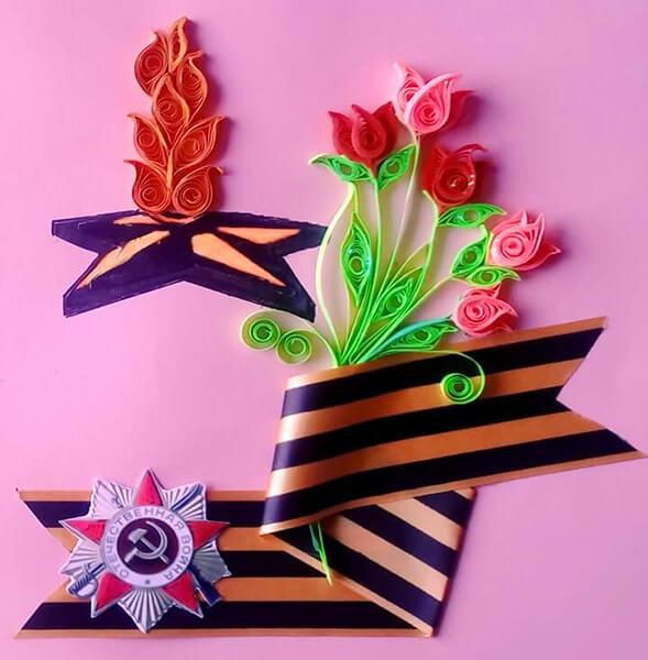 Детские поделки на 9 мая: что можно сделать на день победы podelki na 9 maya svoimi rukami 76