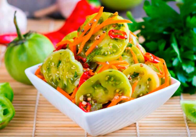 Как приготовить зеленые помидоры на зиму: рецепты пальчики оближешь recept zelenyh pomidor na zimu 12