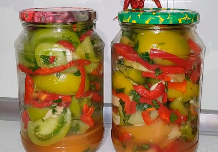 Как приготовить зеленые помидоры на зиму: рецепты пальчики оближешь recept zelenyh pomidor na zimu 2