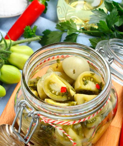 Как приготовить зеленые помидоры на зиму: рецепты пальчики оближешь recept zelenyh pomidor na zimu 26