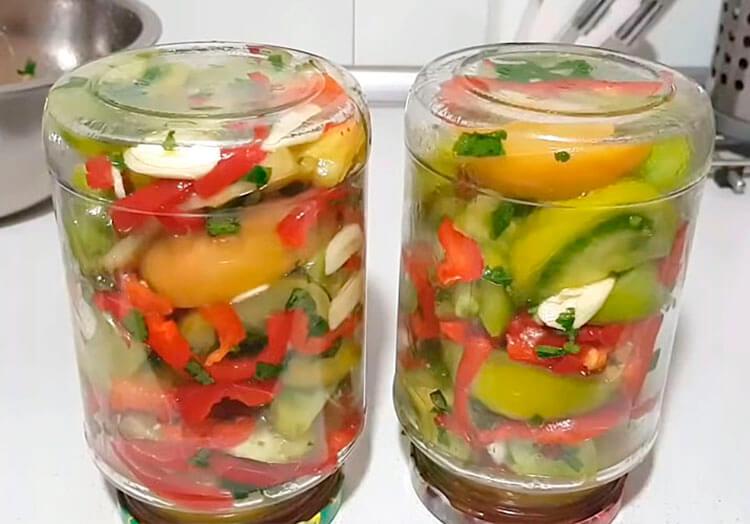 Как приготовить зеленые помидоры на зиму: рецепты пальчики оближешь recept zelenyh pomidor na zimu 7
