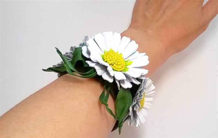 Делаем цветок ромашка своими руками из различных материалов romashki svoimi rukami 1