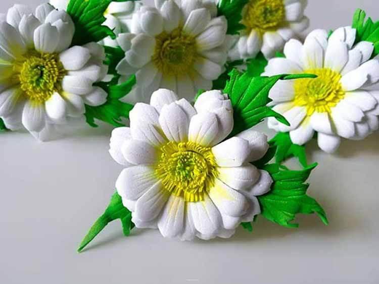Делаем цветок ромашка своими руками из различных материалов romashki svoimi rukami 107