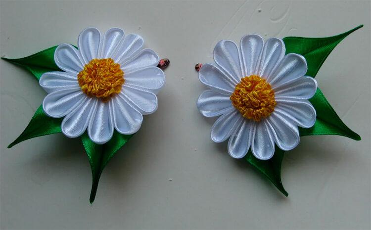 Делаем цветок ромашка своими руками из различных материалов romashki svoimi rukami 125