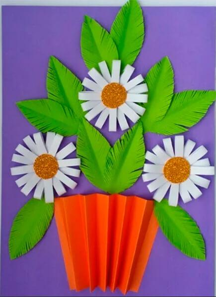Делаем цветок ромашка своими руками из различных материалов romashki svoimi rukami 15