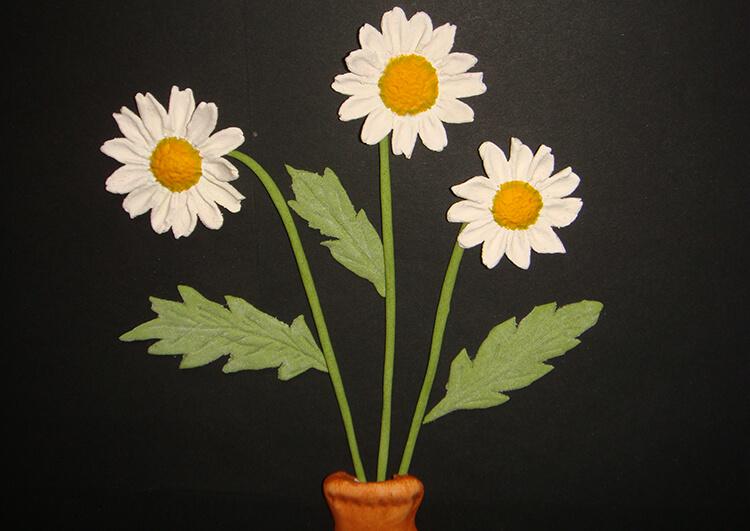 Делаем цветок ромашка своими руками из различных материалов romashki svoimi rukami 187