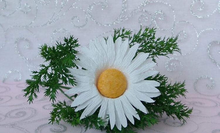 Делаем цветок ромашка своими руками из различных материалов romashki svoimi rukami 188