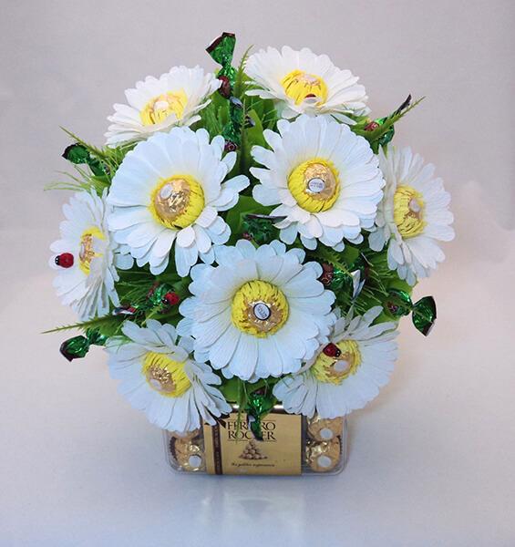 Делаем цветок ромашка своими руками из различных материалов romashki svoimi rukami 206