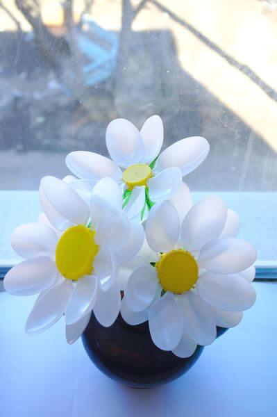Делаем цветок ромашка своими руками из различных материалов romashki svoimi rukami 208