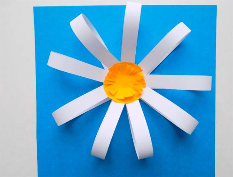 Делаем цветок ромашка своими руками из различных материалов romashki svoimi rukami 26