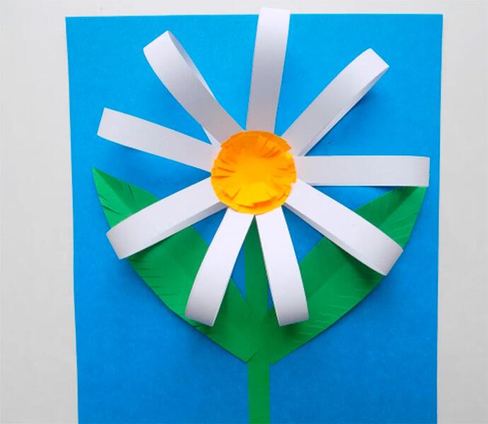 Делаем цветок ромашка своими руками из различных материалов romashki svoimi rukami 29