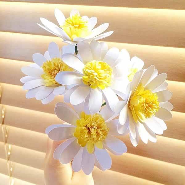 Делаем цветок ромашка своими руками из различных материалов romashki svoimi rukami 47
