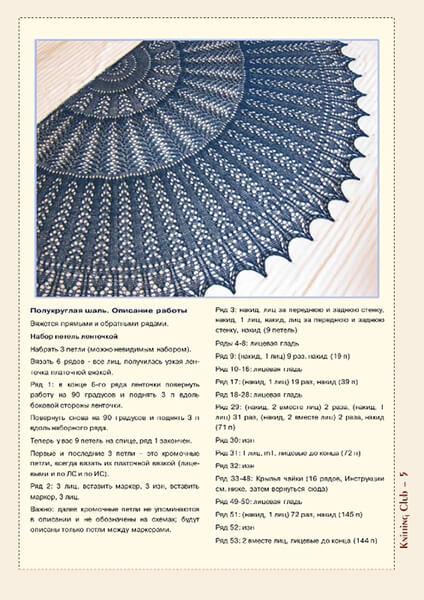 Как связать шаль спицами: описание различных вариантов spicami shal skhema i opisanie 54