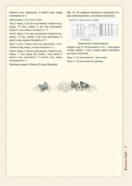 Как связать шаль спицами: описание различных вариантов spicami shal skhema i opisanie 56