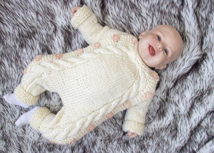 Вяжем красивый конверт спицами для новорожденного малыша detskij konvert spicami opisanie 1