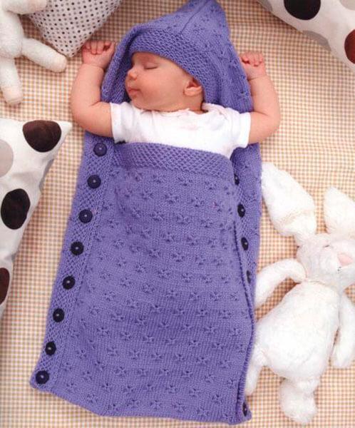 Вяжем красивый конверт спицами для новорожденного малыша detskij konvert spicami opisanie 10