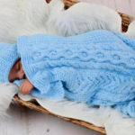 Плед для новорожденного: вяжем спицами для мальчика и девочки