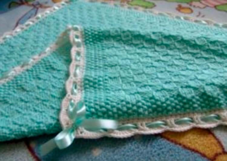 Плед для новорожденного: вяжем спицами для мальчика и девочки pled detskij spicami dlya novorozhdennyh 10