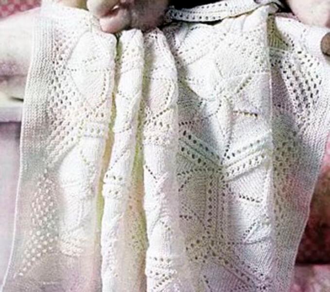 Плед для новорожденного: вяжем спицами для мальчика и девочки pled detskij spicami dlya novorozhdennyh 12