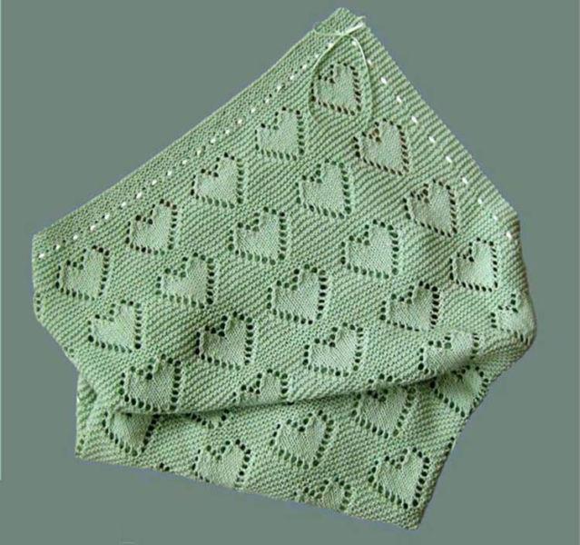 Плед для новорожденного: вяжем спицами для мальчика и девочки pled detskij spicami dlya novorozhdennyh 14