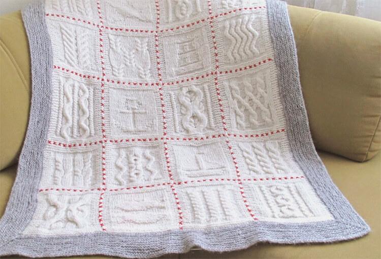 Плед для новорожденного: вяжем спицами для мальчика и девочки pled detskij spicami dlya novorozhdennyh 15
