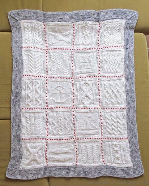 Плед для новорожденного: вяжем спицами для мальчика и девочки pled detskij spicami dlya novorozhdennyh 16