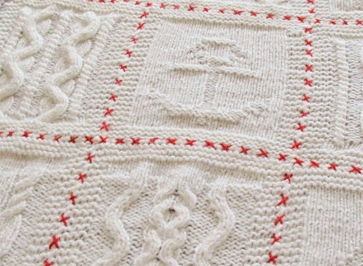 Плед для новорожденного: вяжем спицами для мальчика и девочки pled detskij spicami dlya novorozhdennyh 62