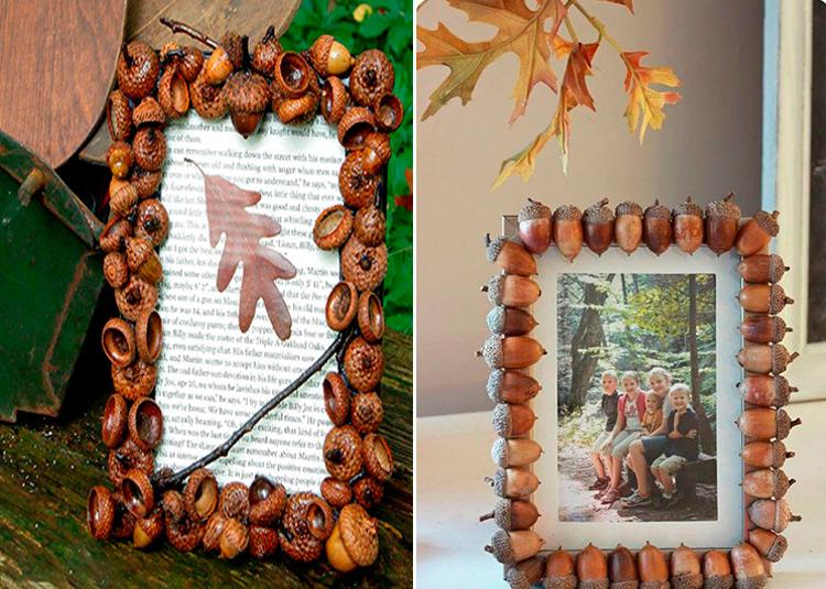 Детские поделки на тему Осень из желудей для школы и садика 26 27