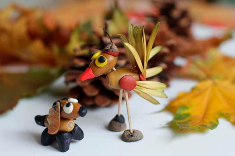 Детские поделки на тему Осень из желудей для школы и садика detskie podelki svoimi rukami iz zheludej 102