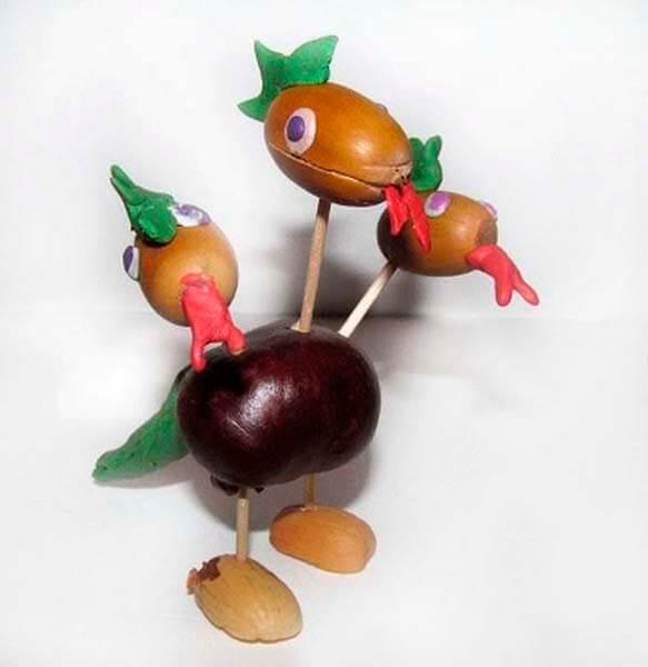 Детские поделки на тему Осень из желудей для школы и садика detskie podelki svoimi rukami iz zheludej 36