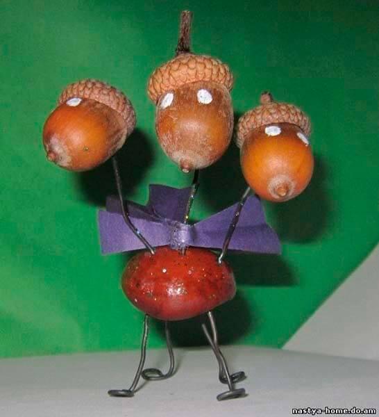 Детские поделки на тему Осень из желудей для школы и садика detskie podelki svoimi rukami iz zheludej 37