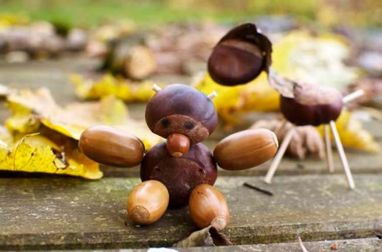 Детские поделки на тему Осень из желудей для школы и садика detskie podelki svoimi rukami iz zheludej 41