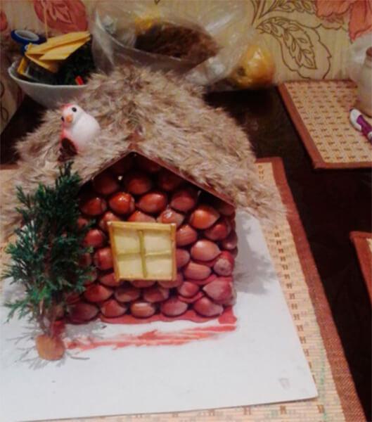 Детские поделки на тему Осень из желудей для школы и садика detskie podelki svoimi rukami iz zheludej 48