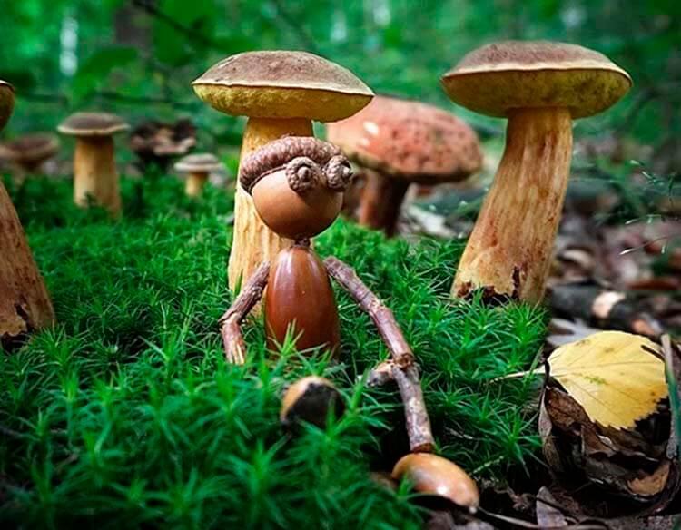 Детские поделки на тему Осень из желудей для школы и садика detskie podelki svoimi rukami iz zheludej 61