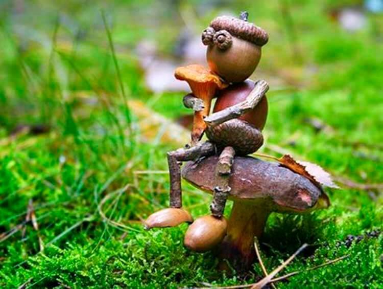 Детские поделки на тему Осень из желудей для школы и садика detskie podelki svoimi rukami iz zheludej 63
