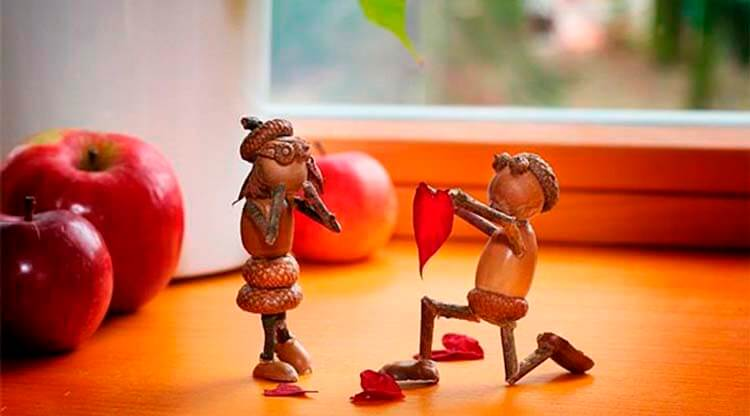 Детские поделки на тему Осень из желудей для школы и садика detskie podelki svoimi rukami iz zheludej 64