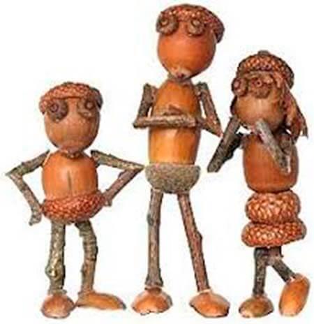 Детские поделки на тему Осень из желудей для школы и садика detskie podelki svoimi rukami iz zheludej 68
