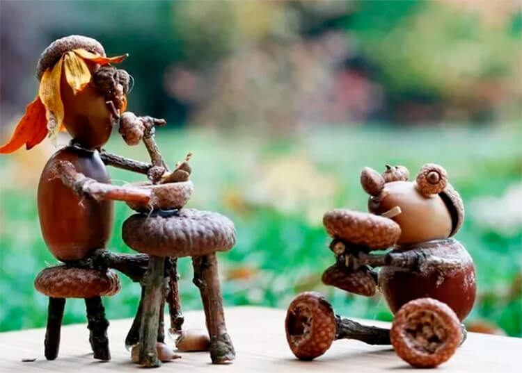 Детские поделки на тему Осень из желудей для школы и садика detskie podelki svoimi rukami iz zheludej 70