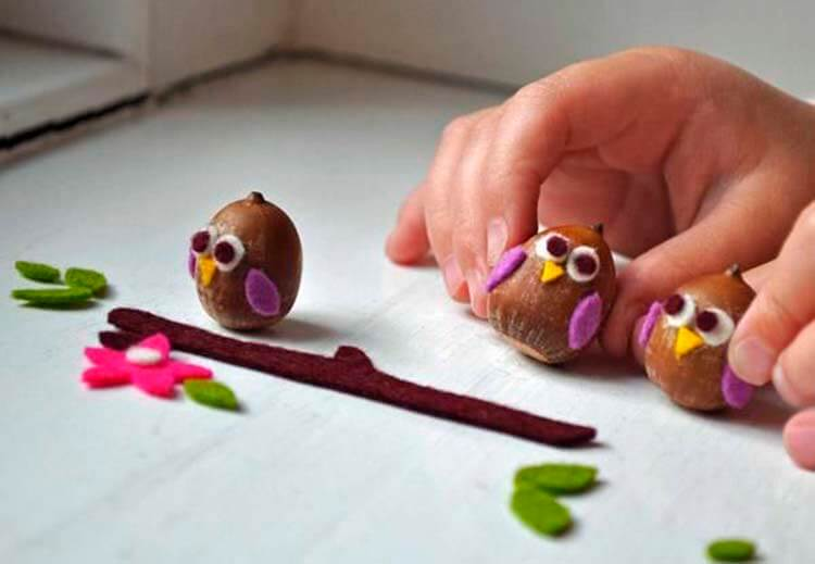 Детские поделки на тему Осень из желудей для школы и садика detskie podelki svoimi rukami iz zheludej 85