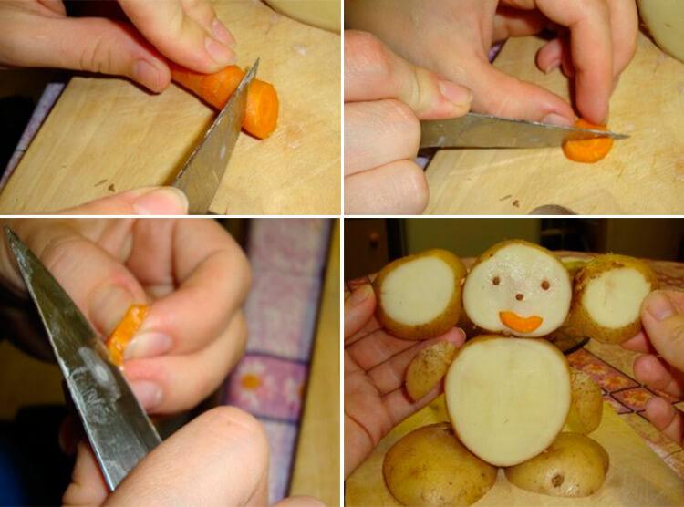 Поделки из картошки для сада и школы своими руками 26 29
