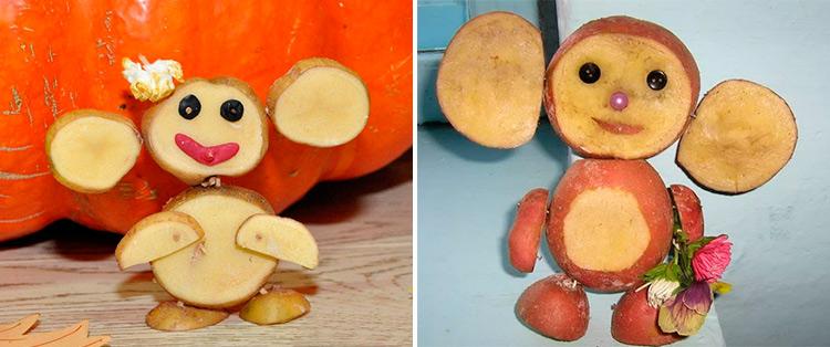Поделки из картошки для сада и школы своими руками 30 31
