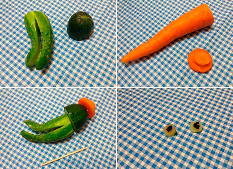 Животные из овощей и фруктов для сада и школы своими руками 63 66