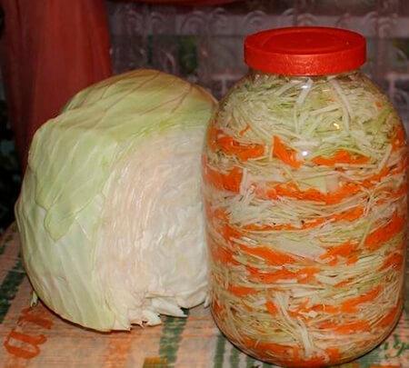 Квашеная капуста в банке: вкусные рецепты на зиму kapusta recept klassicheskij v banke 2