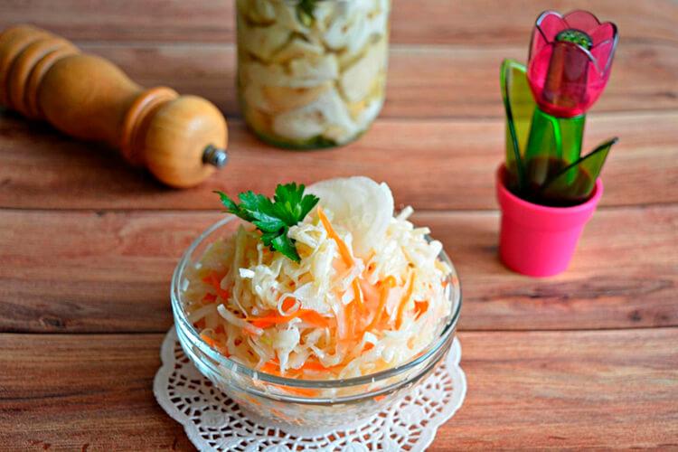 Квашеная капуста в банке: вкусные рецепты на зиму kapusta recept klassicheskij v banke 7