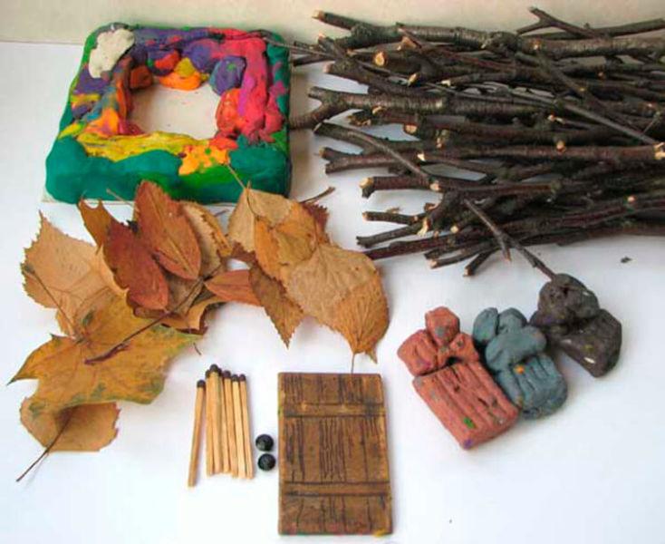 Поделки из различных природных материалов в школу и сад podelki iz prirodnogo materiala na temu osen 25