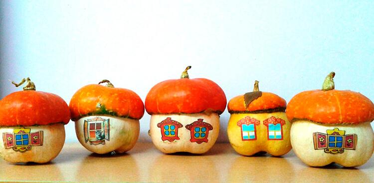 Поделки из тыквы на праздник осени в школу и садик podelki iz tykvy svoimi rukami 137