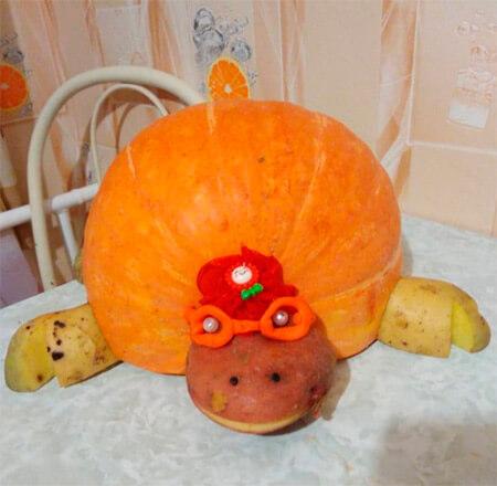 Животные из овощей и фруктов для сада и школы своими руками podelki zhivotnyh iz prirodnogo materiala svoimi rukami 133