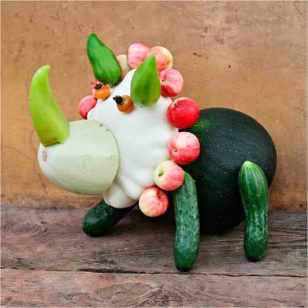 Животные из овощей и фруктов для сада и школы своими руками podelki zhivotnyh iz prirodnogo materiala svoimi rukami 17