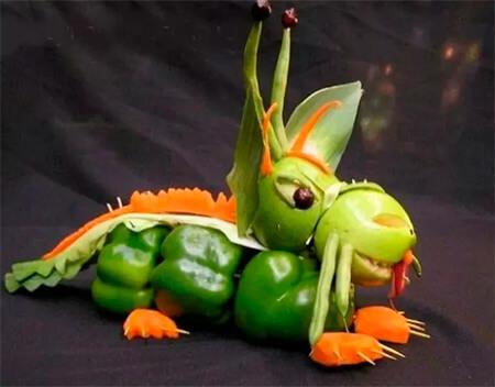 Животные из овощей и фруктов для сада и школы своими руками podelki zhivotnyh iz prirodnogo materiala svoimi rukami 19 2