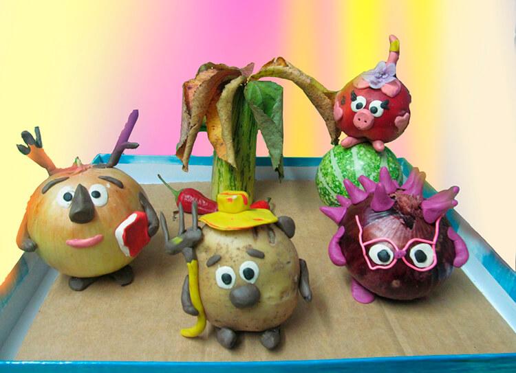 Поделки из картошки для сада и школы своими руками svoimi rukami podelki iz kartoshki 1